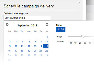 Schedule Campaign Delivery